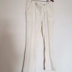 57% linen mix straight leg comfort pants size 10